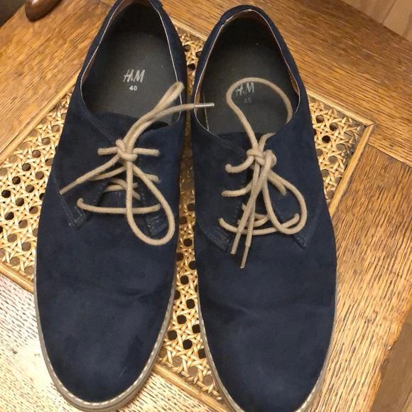 H\u0026M Shoes | Hm Blue Suede | Poshmark